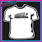 EVOLUTION MONKEY TO SKIER SKIING SKI COOL TSHIRT - 160556603139